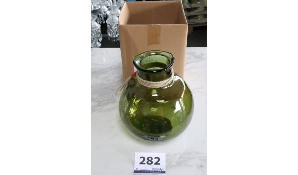decoratieve glazen vaas, groen,