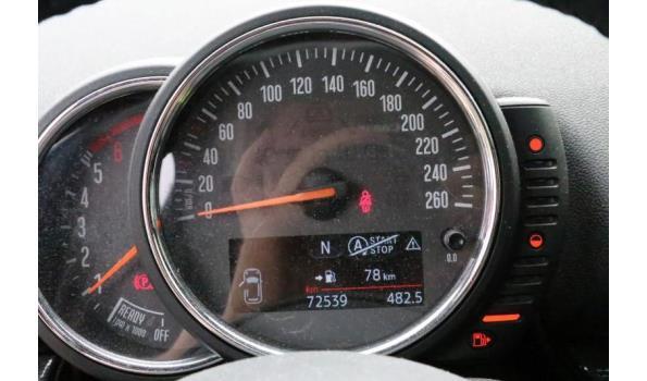 stationwagen MINI, CLUBMAN COOPER D, diesel,1995m³,110kW,1e inschr 10/10/16, chassisnr WMWLR910620D45558, 72539km, CO²-uitstoot 113g/km, EURO5, compl met kenteken DEEL I +II, gelijkvormigheidsattest, 2sleutels,