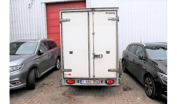 2-assige koelaanhangwagen HUMBAUR, TA G VD RA-RI, 1e inschr ng (bj 2007), chassisnr WGDK2524BG0759303, compl met gelijkvormigheidsattest, ZONDER kenteken DEEL I+II, 1sleutel,