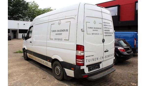 lichte vrachtwagen MERCEDES SPRINTER, diesel, 2143cm³,120kW,1e inschr 20/01/14,chassisnr WDB9066331S878978, 75051km, met gelijkvormigheidsattest, ZONDER kenteken DEEL IenII, keuring tot 22/8/19, 1sleutel