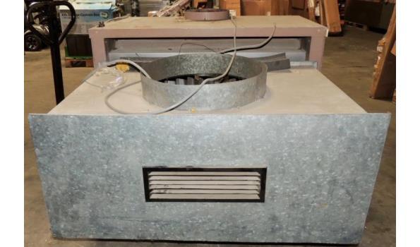 Industriele verwarming fabr. Reznor v.v. 2 ventilatoren op gas