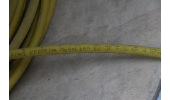 3 aangebroken haspels div IT-kabel, wo UTP