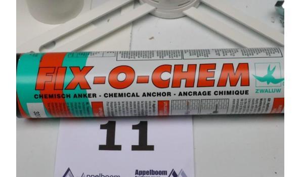chemische ankerset best uit 7 fix-o-chem kitspuiten, bouten,