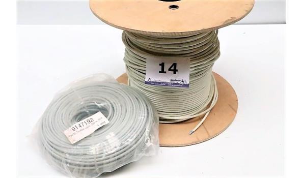 aangebroken haspel IT-kabel en rol IT-kabel Cat5E, 100m