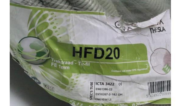 rol IT-kabel CAT5e plus aangebroken rol trekdraad THESLA, HFD20