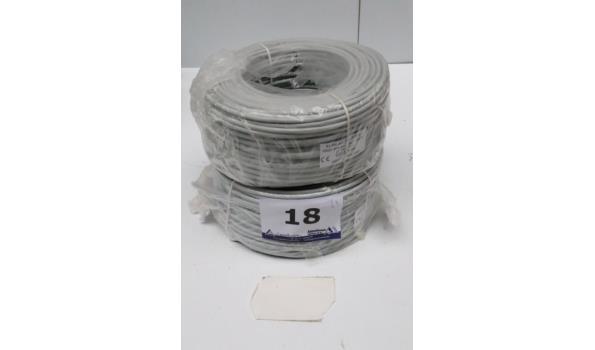 2 rollen IT-kabel CAT5e, 100m