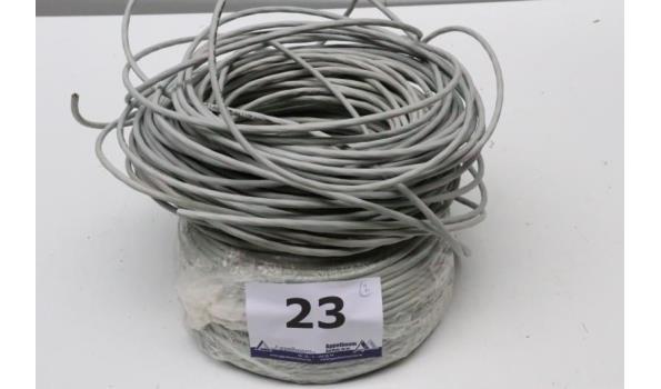 2 rollen IT-kabel CAT5e, wo aangebroken rol
