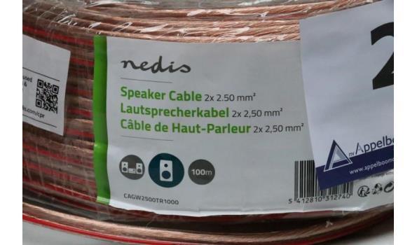 aangebroken rol speakerkabel NEDIS 2x2,50mm² plus klein lot aangebroken speakerkabel