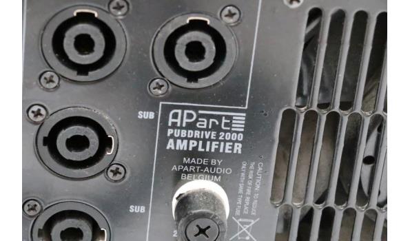 prof versterker APART, Pubdrive-2000, zonder kabels
