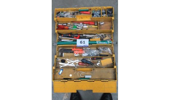gereedschapskoffer inh div handgereedschappen DEXTER