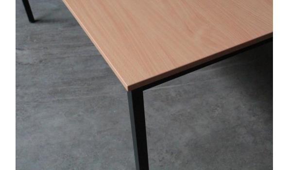 2 rechth tafels afm plm 160x80cm