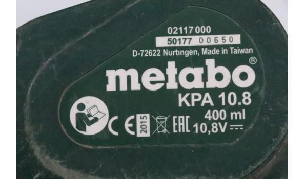 accu kitpistool, METABO KPA 10.8, zonder lader