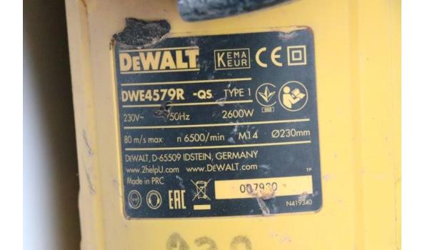 zware haakse slijptol DEWALT DWE4579R