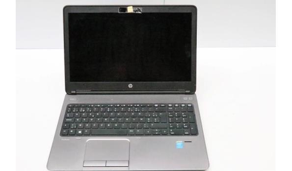 laptop HP, Probook 650, Intel Core i5, met lader en dockingstation, paswoord niet gekend, beschadigd