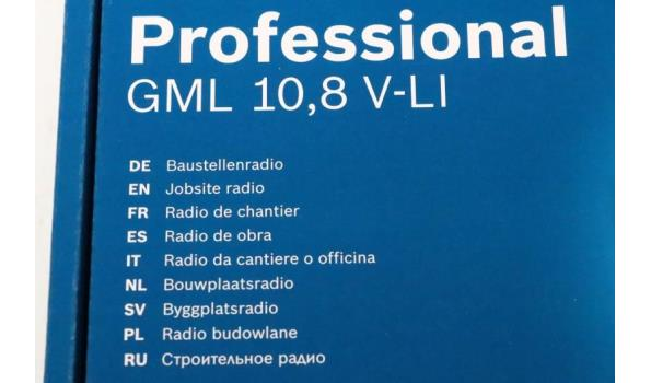 professionele werfradio BOSCH, GML 10,8V-LI