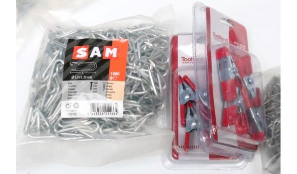 plm 15 zakjes wo div schroeven SAM, krammen