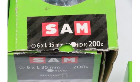 5 doosjes div bouten SAM
