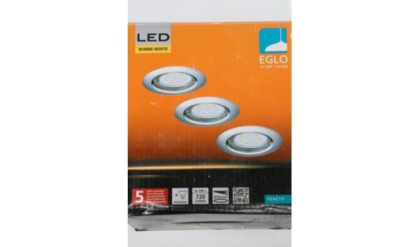 2 diverse led plafondspotsets EGLO