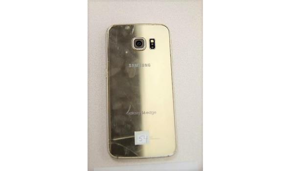 smartphone SAMSUNG GALAXY S6 Edge, 32Gb, beschadigd, zonder lader, werking niet gekend