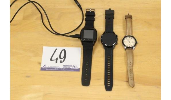 horloge FOSSIL plus activity tacker en smartwatch HUAWEI, zonder kabels, werking niet gekend