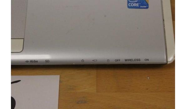 laptop/notebook SONY, Vaio PCG-61411L, Intel Core, zonder lader, paswoord niet gekend, werking niet gekend