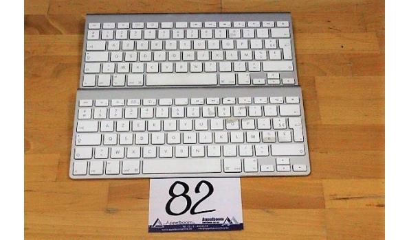 2 toetsenborden APPLE, A1314, werking niet gekend