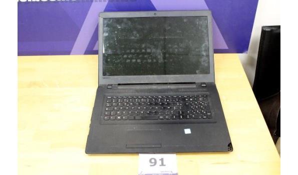 laptop LENOVO, Intel Core i3, zonder lader, paswoord niet gekend, werking niet gekend, beschadigd