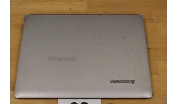 laptop LENOVO, Ideapad S400, Intel Celeron, zonder lader, paswoord niet gekend, werking niet gekend, beschadigd