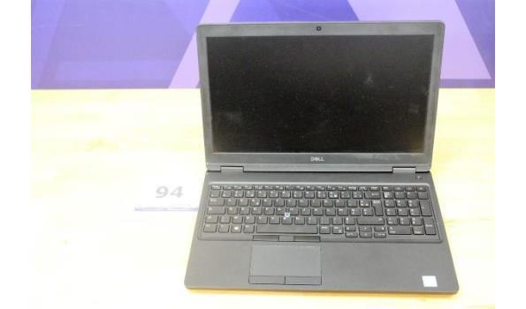 laptop DELL, Intel Core i5, zonder lader, paswoord niet gekend, werking niet gekend