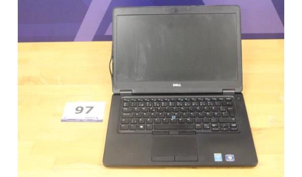 laptop DELL, Latitude E5450, Intel Core i3, zonder lader, paswoord niet gekend, werking niet gekend, beschadigd