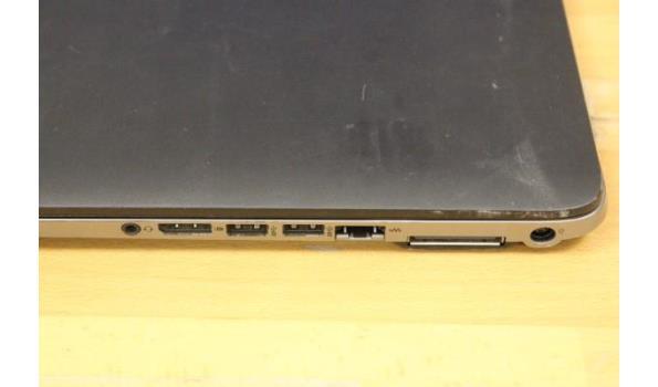 laptop HP, Elitebook, Intel Core i5, zonder lader, paswoord niet gekend, werking niet gekend
