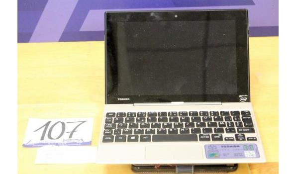 laptop/notebook TOSHIBA, Satellite Click Mini L9W-B, Intel Atom, zonder lader, paswoord niet gekend, werking niet gekend