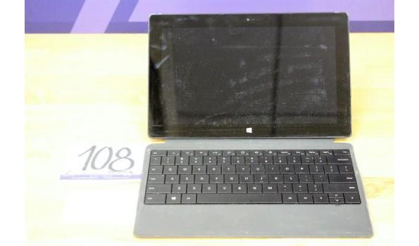 tablet pc MICROSOFT Surface, Intel Core i5, 128Gb, zonder lader, paswoord niet gekend, werking niet gekend, met cover/toestenbord