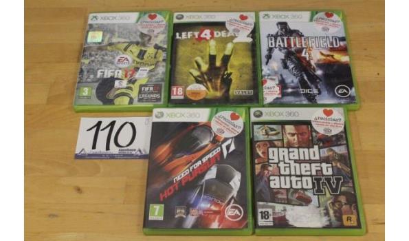 5 div consolespellen voor Microsoft XBOX 360