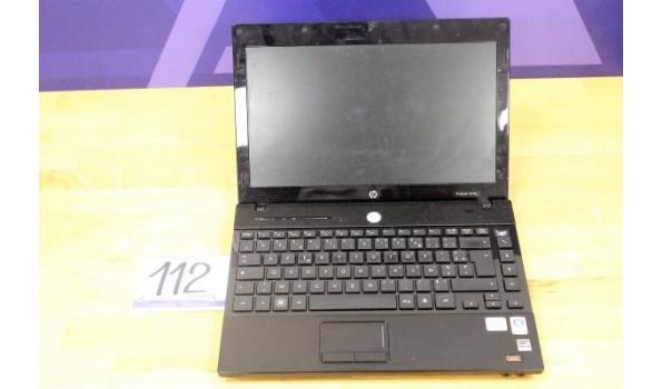 laptop HP ProBook 4310s, intel Dual-Core, zonder lader, paswoord niet gekend, werking niet gekend
