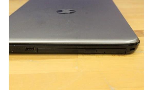 laptop HP, zonder lader, paswoord niet gekend, werking niet gekend, beschadigd