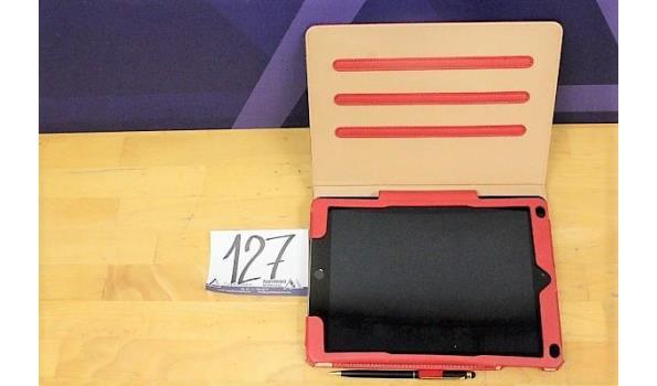tablet pc APPLE, Ipad A1893, met cover, zonder kabels, werking niet gekend, paswoord niet gekend, mogelijks Icloud beveiligd