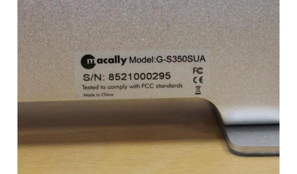 case voor HD-schijf MACALLY G-S350SVA, zonder HD-schijf, zonder kabels