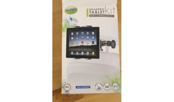 auto tablet hoofdsteun bevestiging iGRIP TabletKit