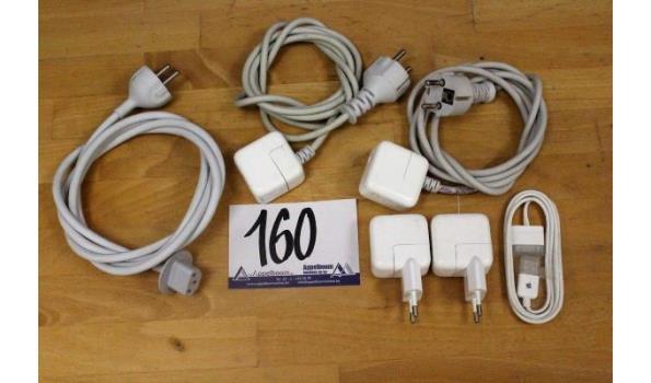 lot diverse kabels en muurladers voor APPLE