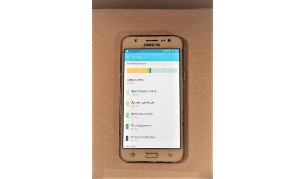 smartphone SAMSUNG Galaxy J5, cap 8Gb, zonder lader, met gebruikssporen, werking niet gekend, paswoord niet gekend