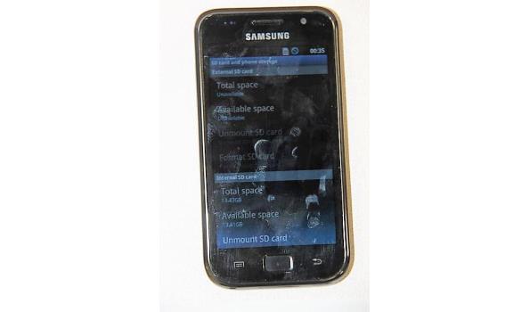 smartphone SAMSUNG GT-I9000, 13Gb, zonder lader, met gebruikssporen, werking niet gekend, paswoord niet gekend