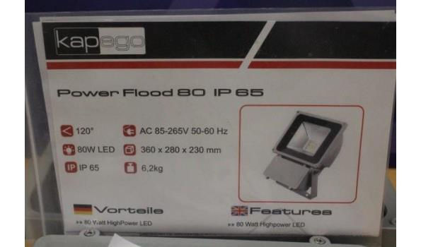 led verstraler POWER FLOOD 80, IP65, werking niet gekend