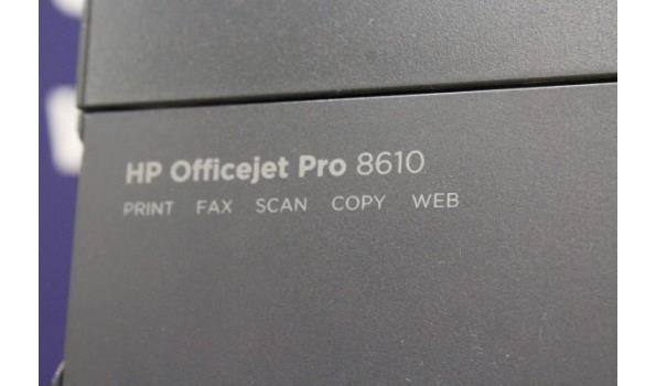 all-in-one printer HP, OfficeJet Pro8610, zonder kabels, werking niet gekend