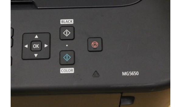scanner CANON MG5650, zonder kabels, werking niet gekend