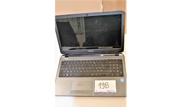 laptop COMPAQ, Celeron N2830, 750 Gb HD, zonder lader, met gebruikssporen, paswoord niet gekend, werking niet gekend