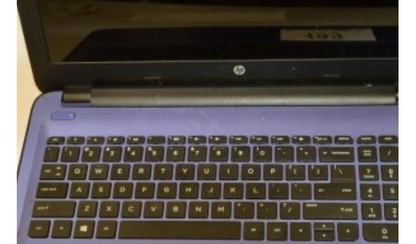 laptop HP TPN-C126, AMD, 500Gb HD, zonder lader, met gebruikssporen, paswoord niet gekend, werking niet gekend
