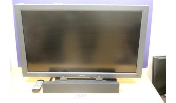 lcd display monitor MITSUBUSHI LDT37IV, zonder kabels, met soundbar en afstandsbediening, werking niet gekend