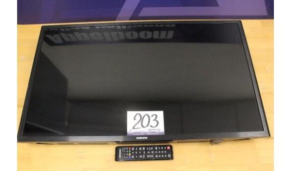 flat tv SAMSUNG UE32J5200AW, zonder kabels, met afstandsbediening, werking niet gekend, zonder voet