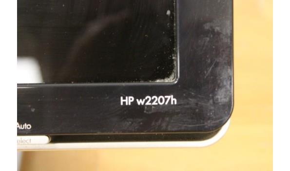 tft-scherm HP w2207h, met kabels, werking niet gekend